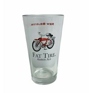 Fat Tire Amber Ale Bicycle New Belgium Beer Glass